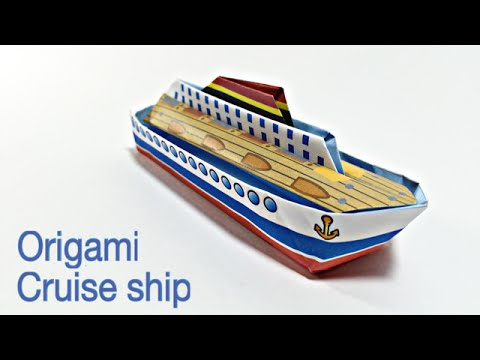 cruise ship tutorial easy ship origami youtube