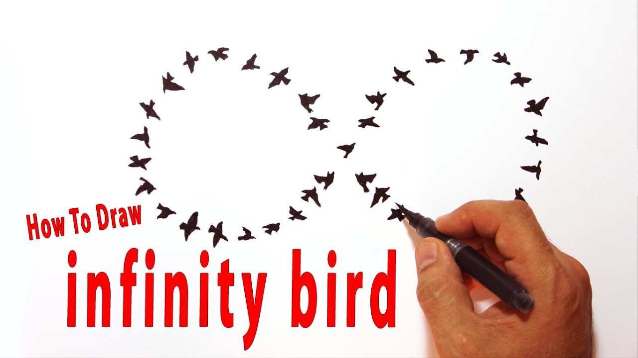 How to draw infinity bird tattoo design style amazing sonsuzluk how to draw infinity bird tattoo design style amazing sonsuzluk kular youtube biocorpaavc Choice Image