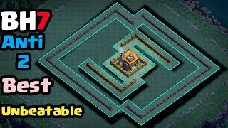 Builder hall 7(Bh7) Best Unbeatable Anti 2 base layout | Easy 5000+ Trophies