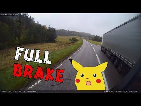 Trucker Dashcam #80 Had To Brake HARD To Avoid This Truck!