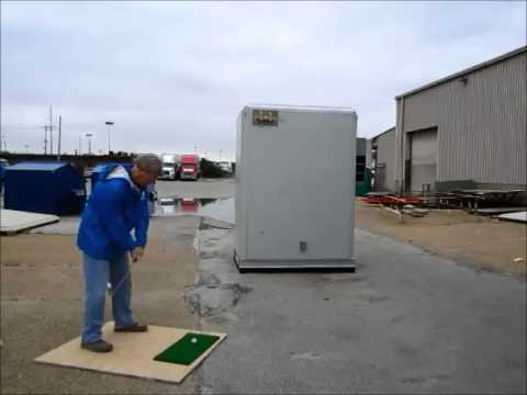 What Happens When A Golf Ball Hits A Shelter Works Building?