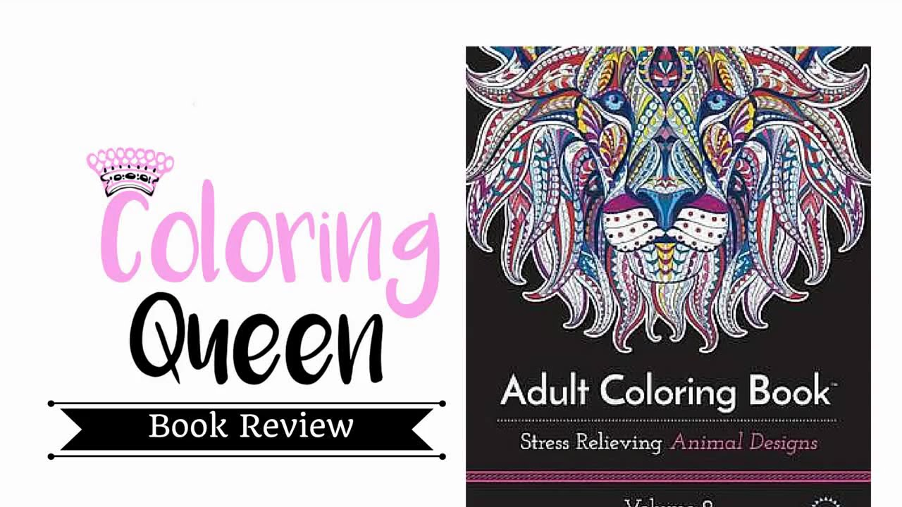 Stress relieving coloring - Adult Coloring Book Stress Relieving Animal Patterns Volume 2 Adult Coloring Book Review