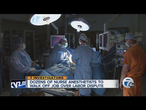 Dozens of nurse anesthetists to walk off the job