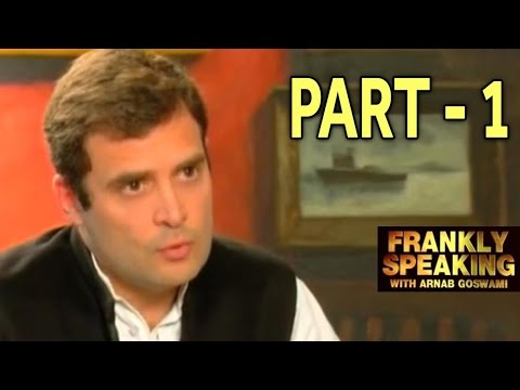 Frankly Speaking with Rahul Gandhi - Part 1 | Arnab Goswami Exclusive Interview