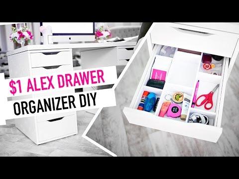 $1 DIY ALEX DRAWER ORGANIZER | DIY