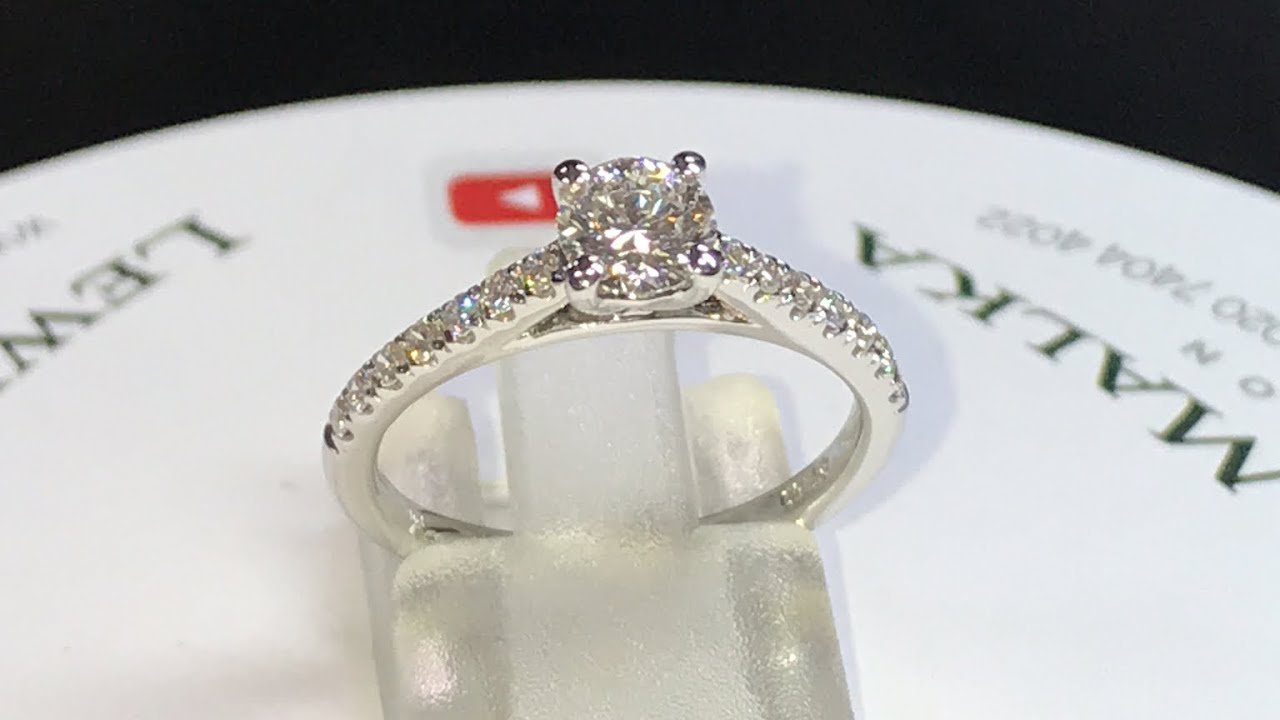 Best Engagement Ring Ever Classic Platinum Diamond With Shoulders