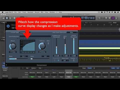 Compressors in Logic Pro X