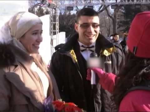 Harbin Group Wedding ceremony on the ice