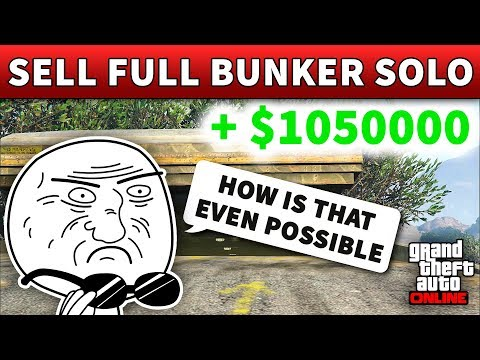 GTA 5 Selling Full Bunker Stock Solo | HOW TO SELL BUNKER STOCK SOLO (GTA Online Gunrunning Guide)