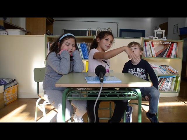 Alumnos de 2º de Primaria del Colegio Elvira España de Tudela explican qué es la Navidad