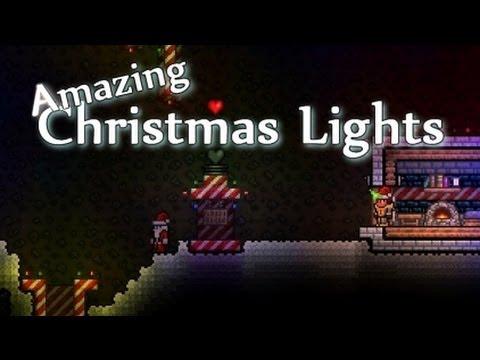 Terraria Christmas House.Terraria Amazing Christmas Lights