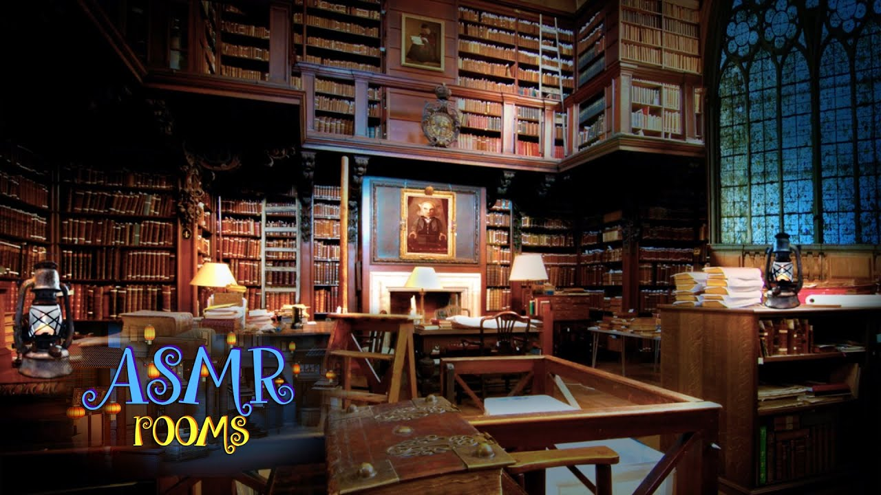 Animated Fireplace Wallpaper Harry Potter Asmr Hogwarts Library Hd Ambient Sound
