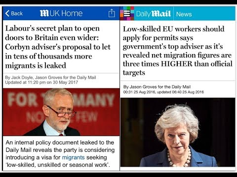 James O'Brien vs Daily Mail hypocrisy about Corbyn and immigration