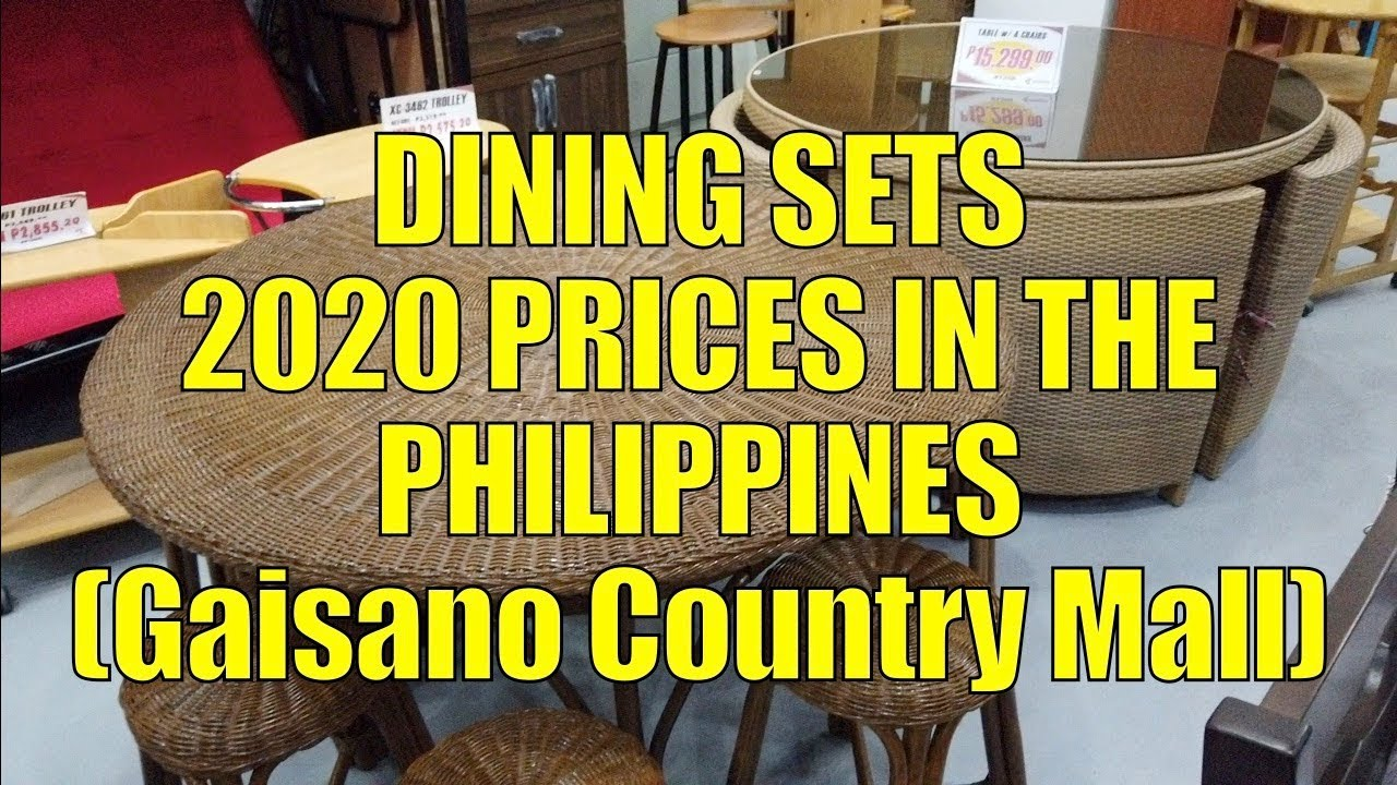 Dining Sets 2020 Prices In The Philippines Gaisano Country Mall Youtube