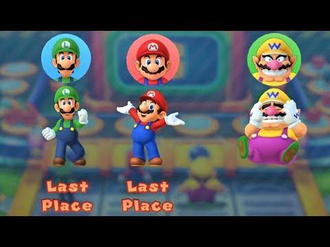 Mario Party 10 - Luigi Vs Mario Vs Wario - Haunted Trail