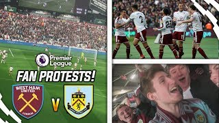 FAN PROTESTS, FIGHTS AND SCENES!! - WEST HAM 0-3 BURNLEY AWAY …