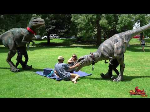 Real Dinosaurs Scare Prank