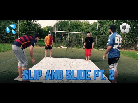 SLIP AND SLIDE Part 2 FUßBALL CHALLENGE mit den Boys