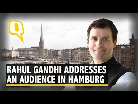 Rahul Gandhi Live:  Congress President Addresses an Audience at Bucerius Summer School, Hamburg
