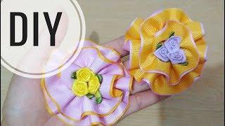 DIY || Cara Memuat Bros Bunga Dari Pita Grosgrain | Tutorial Flower For Beginner