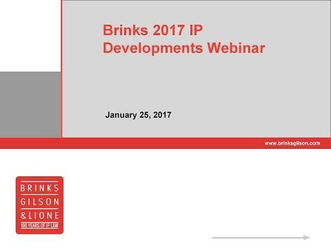 Brinks Webinar | 2017 IP Developments Webinar