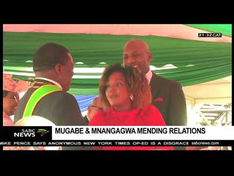 Grace reconciles with Mnangagwa following her mother's death
