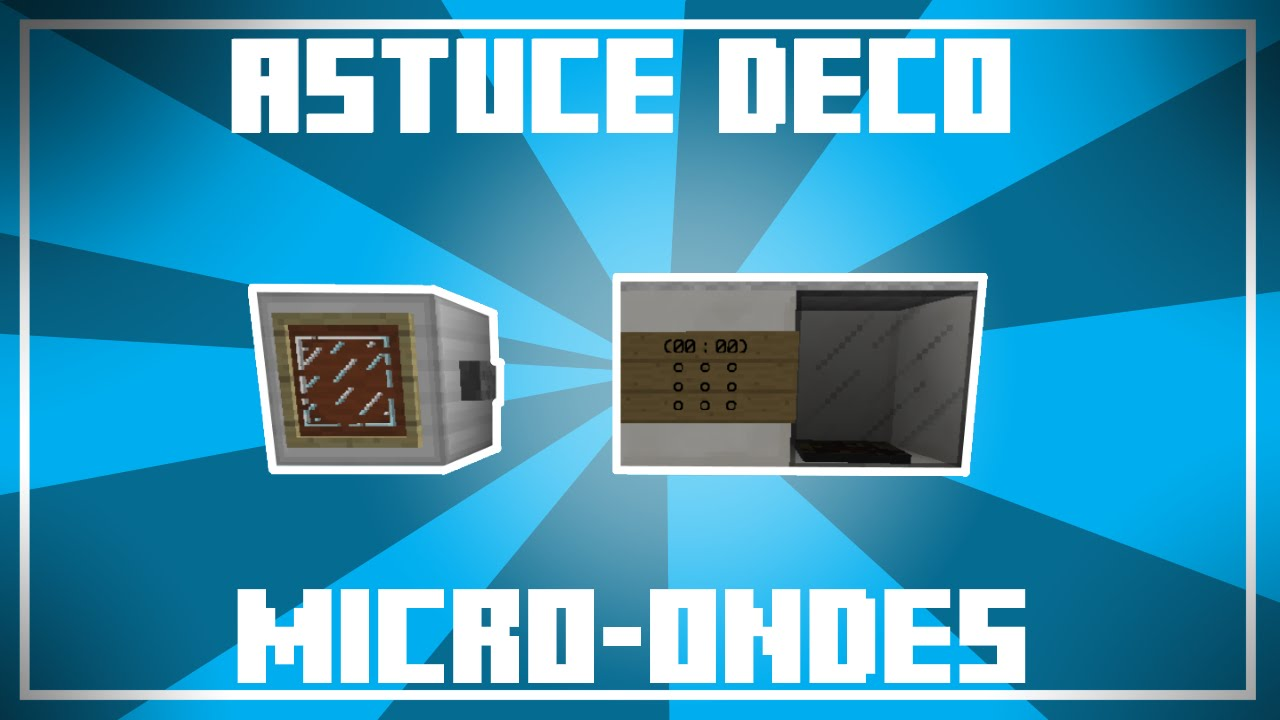 astuce d co 2 designs de micro ondes dans minecraft youtube. Black Bedroom Furniture Sets. Home Design Ideas