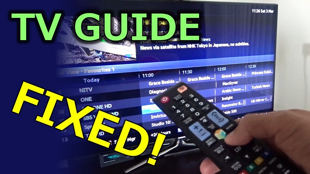 tv guide epg fixed youtube rh youtube com samsung tv channel guide no information samsung smart tv guide no information