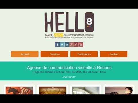 TUTO] CRÉER UN TEMPLATE ONE PAGE FLAT DESIGN AVEC PHOTOSHOP - YouTube
