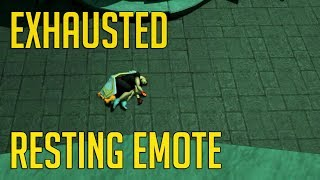 Exhausted Resting Emote | Guide on how to get it fast (Runescape 3)