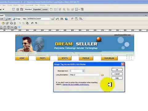 Terbaru 2015 Cara Buat Website Dengan Trik Dreamweaver 8 Youtube