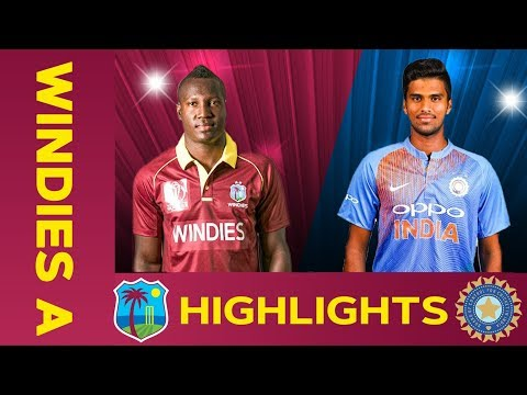 West Indies A vs India A - Match Highlights   5th ODI 2019   India A Tour of West Indies