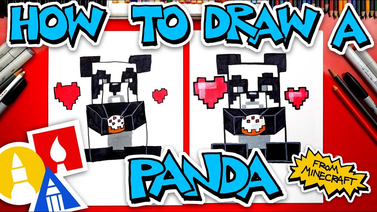 How To Draw A Panda Eating Cake From Minecraft