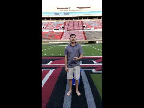 Justin Petty ALS challenge in Jones Stadium