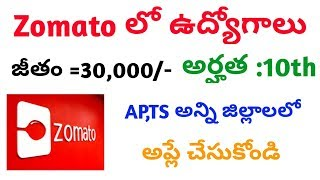 Zomato jobs in all districts of Andhra pradesh and Telangana    zomato jobs    zomato private jobs