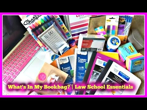 What's in My Backpack? | My Law School Essentials 2015