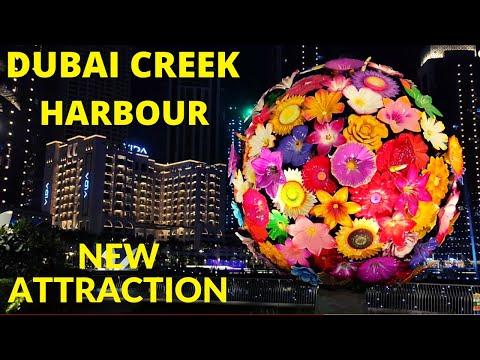 Dubai Creek Harbour Park Marina Night view