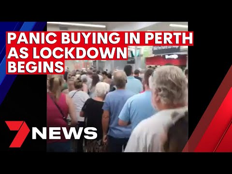 Perth enters hard COVID-19 lockdown after recording first community case in almost 10 months | 7NEWS