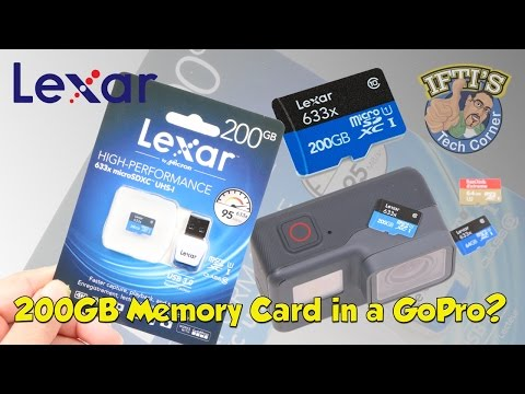 Lexar 633x 200GB MicroSD Memory Card With GoPro Hero 5? Does It Work?