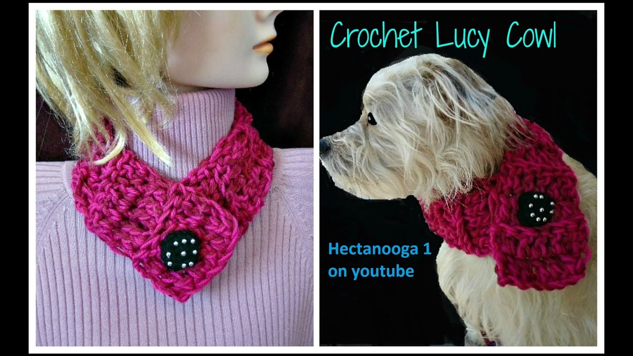 "How to crochet a 20 minute cowl, for dogs or people, ""Lucy ..."