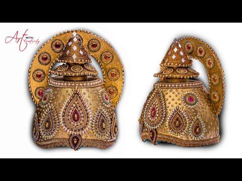 Part 1| DIY How to make Mukut | God ( crown  / tahia in odia ) | kundan mukut | Art with Creativity