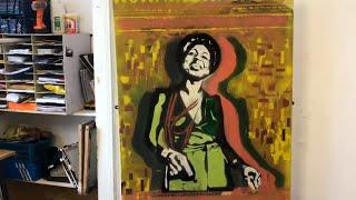 Cer i Greu - Portread Stensil Nina Simone | Stencil Portrait