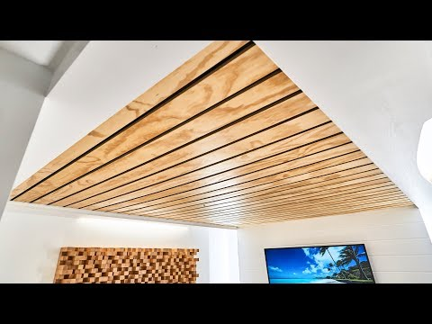 How To Make A Wood Slat Ceiling
