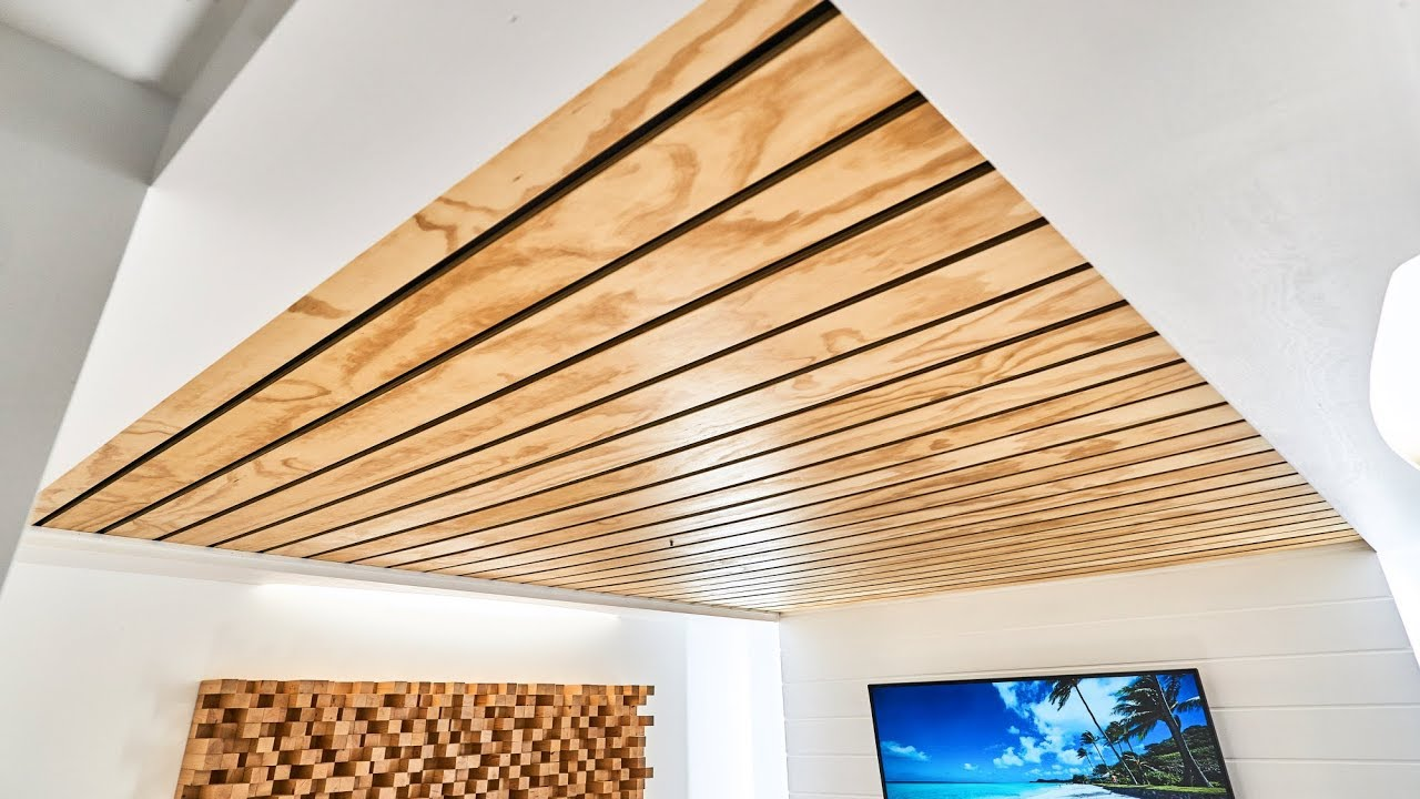 How To Make A Wood Slat Ceiling You