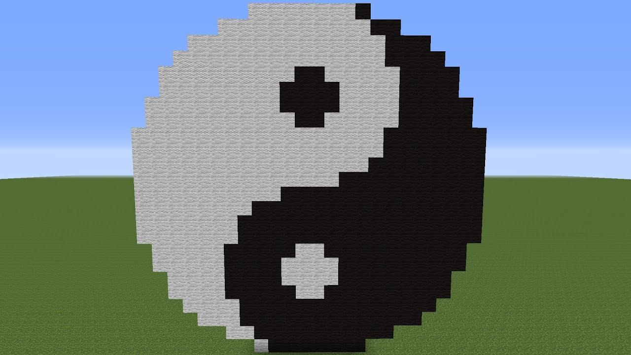 PixelArt (Minecraft)   YingYang - YouTube