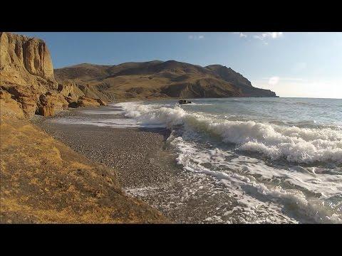 Веб камеры Крыма этого не покажут. Пляж Меганом Судак.