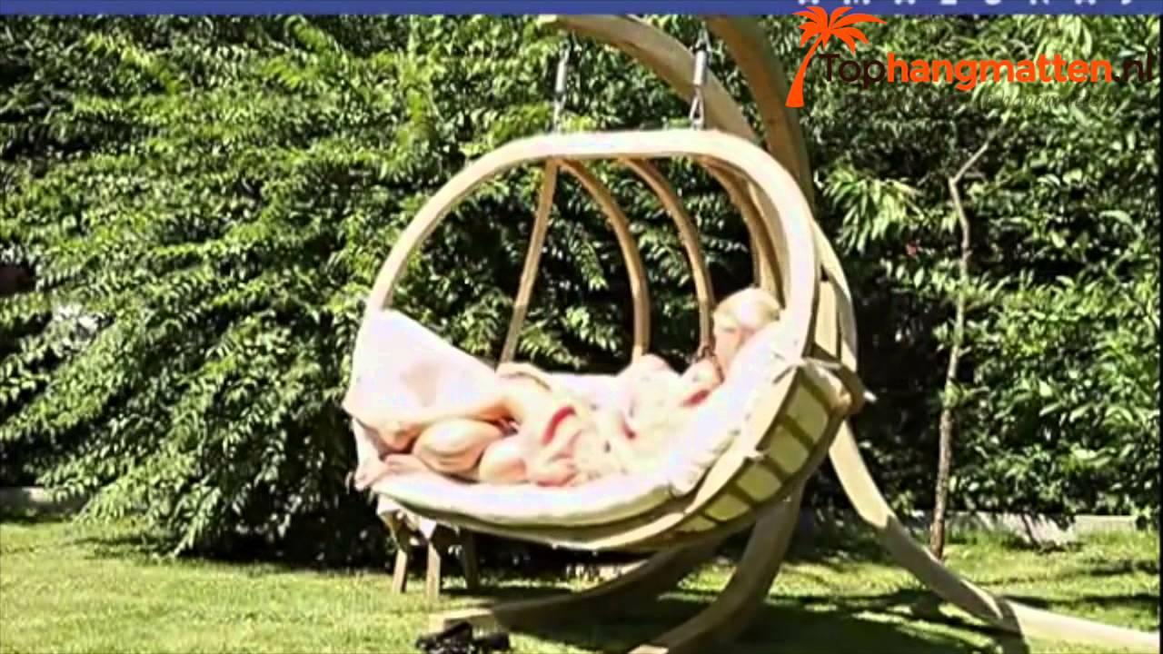 Hangstoel Egg Chair Wit.2 Persoons Hangstoel Globo Royal Amazonas Youtube