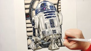 R2-D2 (Star Wars) Timelapse Drawing