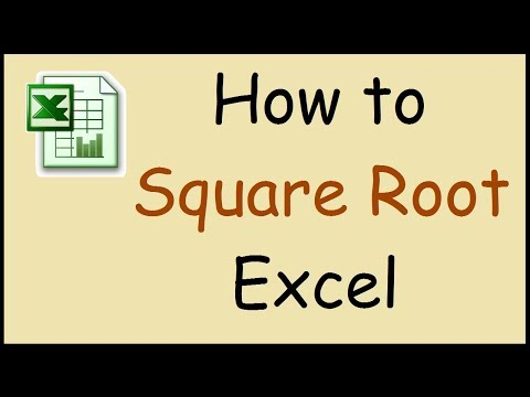 How To Square Root A Number In Excel