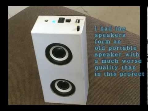 DIY Portable Mini Speaker - YouTube